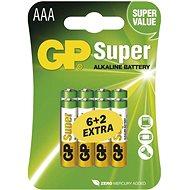 GP Super Alkaline LR03 (AAA) 6 + 2 db bliszteres csomagolásban - Eldobható elem