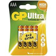 GP Ultra Alkaline LR03 (AAA) 6+2 db buborékcsumagolásban - Eldobható elem