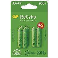 GP ReCyko 1000 AAA (HR03) újratölthető akkumulátor, 6 db - Akkumulátor