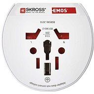 EMOS Travel univerzális adapter külföldiek számára Közép-Európában - Adapter utazáshoz
