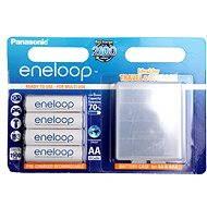 Panasonic eneloop AA 1900mAh 4db + tartó - Akkumulátor