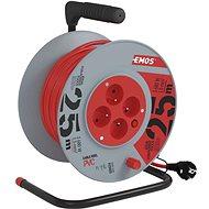 Hosszabbító kábel Emos kábeldob hosszabbítóval 4 aljzat 25 m - Prodlužovací kabel