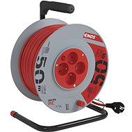 Hosszabbító kábel Emos hosszabbító kábel 4 aljzatot 50 m bubnu- - Prodlužovací kabel