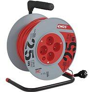Emos PVC hosszabbító kábel dobbal - 4 aljzat, 25m - Hosszabbító