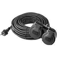 EMOS gumi hosszabbító kábel, 10m, fekete - Hosszabbító kábel