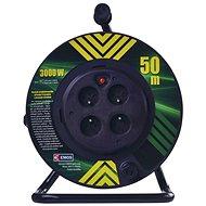 Hosszabbító kábel EMOS PVC Kábel dobon fix középrésszel - 4 aljzat, 50 m, 1,5 mm2 - Prodlužovací kabel