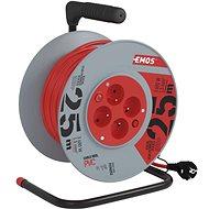 Hosszabbító kábel EMOS PVC Kábel dobon kapcsolóval - 4 aljzat, 25 m, 1,5 mm2 - Prodlužovací kabel
