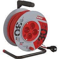 Hosszabbító kábel EMOS PVC Hosszabbító kábel dobon - 4 aljzat, 30 m, 1 mm2 - Prodlužovací kabel