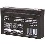 EMOS Karbantartás-mentes ólom-sav akkumulátor 6 V / 7 Ah, gyors, 4,7 mm - Tölthető elem