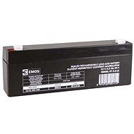 EMOS Karbantartás-mentes ólom-sav akkumulátor 12 V / 2,2 Ah, gyors 4,7 mm - Tölthető elem