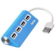 Hama USB 2.0 4 portos kék USB hub - USB Hub