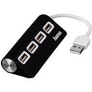 Hama USB 2.0 4 portos fekete USB hub - USB Hub