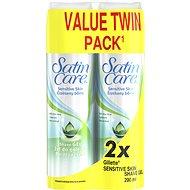GILLETTE Satin Care Sensitive 2x 200 ml - Női borotvahab
