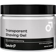 Borotvagél BEVIRO Transparent Shaving Gel 500 ml - Gel na holení