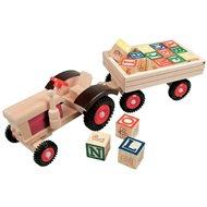 Bino Traktor gumi kerekek és iparvágány - Játékautó