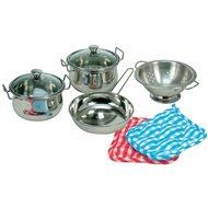Bino rozsdamentes acél edénykészlet - Játék edények