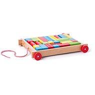 Készségfejlesztő játék Woody kocsi kockákkal, kicsi - Didaktická hračka