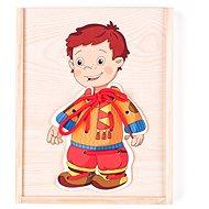 Készségfejlesztő játék Woody Fűzős öltöztető játék - Kisfiú