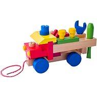 Készségfejlesztő játék Woody Összeszerelhető autó - Didaktická hračka