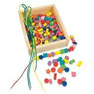 Woody fűzhető gyöngyök egy dobozban - Készségfejlesztő játék