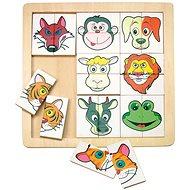 Woody Fajáték - Állatfejes kirakó - Puzzle