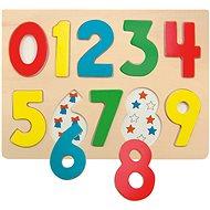 Woody deszka puzzle - Számjegyek katicabogárral - Puzzle