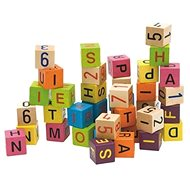 Woody kockák betűkkel és számokkal - Játékszett