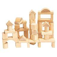 Woody natúr fa építőkocka - Fa játékkockák
