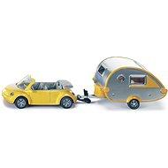 Siku Blister - VW Beetle karavánnal - Autó
