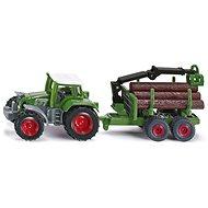 Siku Blister - Traktor rönkszállító utánfutóval - Fémmodell