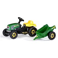 Pedálos traktor Rolly Kid utánfutóval - zöld - Pedálos traktor