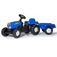 Pedálos traktor Rolly Toys Rolly Kid pedálos traktor, kék oldalsó résszel