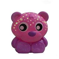 Playgro lámpa alváshoz, rózsaszín mackóval, kivetítővel - Babajáték