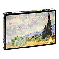 Piatnik Van Gogh - Búzamező ciprusokkal - Puzzle