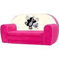 Bino Mini-kanapé, rózsaszín - Kisvakond - Gyerekbútor