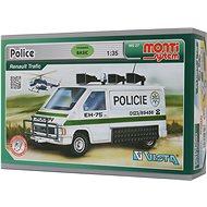 Monti system 27 - Policie Renault Trafic, 1:35 méretarány - Építőjáték