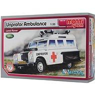Monti system 35 - Unprofor Ambulance Land Rover, 1:35 méretarány - Építőjáték