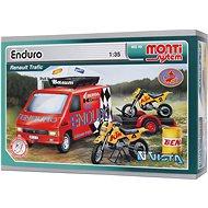 Montisystem 49 - Enduro Renault Trafic 1:35 arány - Építőjáték