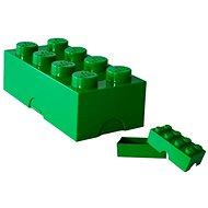 LEGO Box 100 x 200 x 75 mm - sötétzöld - Uzsonnás doboz