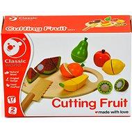 Szeletelhető gyümölcsök vágódeszkával - Játék szett