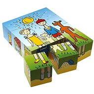 Top fa kocka kirakó - Kutya és macska 12 db - Mesekocka