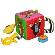 Textil kocka a legkisebbeknek - Vakondos oktató játék - Készségfejlesztő játék