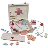 Gyermekek fából készült orvosi táska - Isabel - Tematikus játékszett