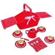 Sarah piros piknik kosár - Játék szett