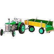 Kovap zöld traktor utánfutóval - Autó