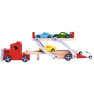 Bino Traktor 9 autóval - Játék szett