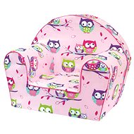 Bino rózsaszín fotel – baglyos - Gyerekbútor