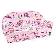 Bino rózsaszín kanapé - baglyos - Gyerekbútor
