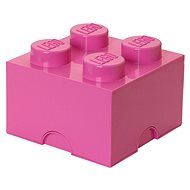 Tárolódoboz LEGO tároló doboz 4 250 x 250 x 180 mm - Rózsaszín
