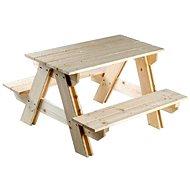Kerti fa asztal és padok - Szett